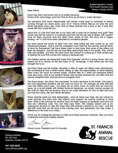 Fundraising made effortless with 13 donation request letters st francis animal rescue annual appeal sample letter thecheapjerseys Choice Image
