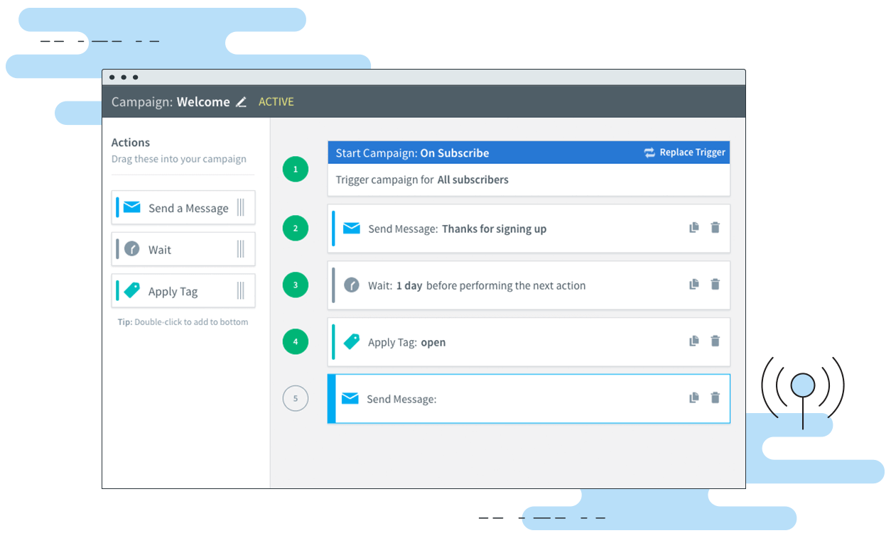 Email automation allows you to customize when users receive emails without you manually having to send them.