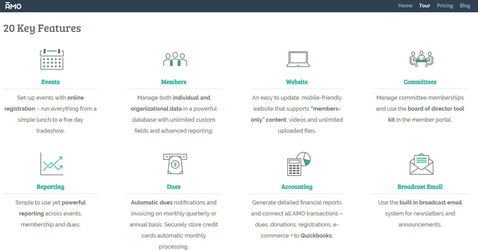 AMO is a feature-packed membership platform that offers a suite of tools.